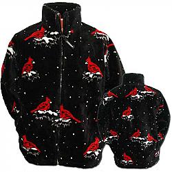 Black Mountain Cardinals Ultra Plush Fleece Jacket Adult (XS - 3X)