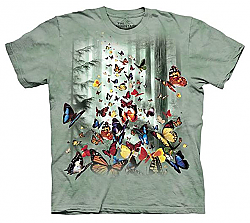 The Mountain Butterflies Monarch Ulysses Swallowtail T-Shirt Sm - 2X New