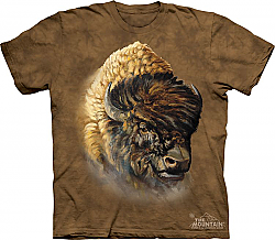 The Mountain Buffalo Portrait Native American Classic T-Shirt New (Md, 3x)