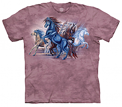 The Mountain Wild Winds Short Sleeve Horse Print Shirt by artist Jody Bergsma (Sm - 3x)