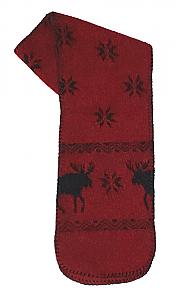 Moose Snowflakes Fleece Scarf Made USA