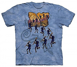 The Mountain Kokopelli in the Moonlight Native American T-Shirt (Sm, Med)