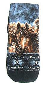 Horse Delight Plush Fleece Scarf