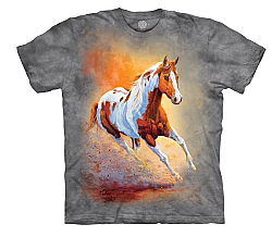 The Mountain Sunset Gallop Adult Horse T-Shirt (Sm - 3X)
