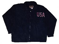 Old Glory USA American Flag Fleece Jacket Adult (Sm - 2x)
