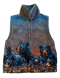 Bear Meadow Plush Fleece Vest (Sm, Med)