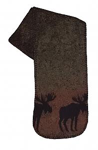 Sunset Moose Fleece Scarf  Made USA