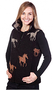 Stampede Looped Wool / Fleece Cinchbach Horse Vest (Xs - 3x)