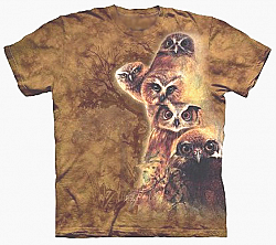 The Mountain Owl Totem Great Horned, Burrowing, Barn Owl Bird T-Shirt New