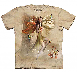 The Mountain Fairy in Forest Meadow Short Sleeve Fantasy Adult T-Shirt (Sm - 3X)