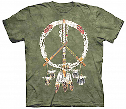 The Mountain Peace Pipes Native American T-Shirt (2X)