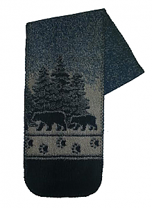 Black Bear Crossing Fleece Scarf Made USA