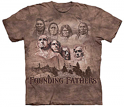The Mountain Founders Original Founding Fathers Native American Short Sleeve Shirt (XL, 2X)