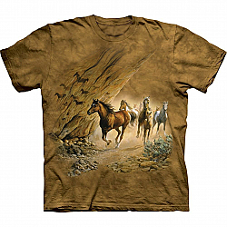 The Mountain Sacred Passage Short Sleeve Horse T-Shirt (Sm, Md)