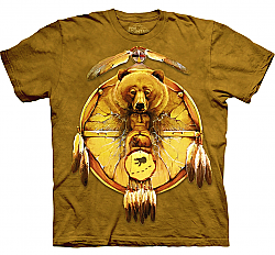 New The Mountain Bear Shield Totem Native American T-Shirt (Sm - 3X)