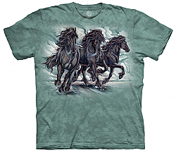 The Mountain Power of Purpose Short Sleeve Horse Print T-Shirt by artist Jody Bergsma (Sm - 3x)