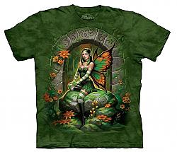 The Mountain Jade Fairy Short Sleeve Green Winged Fantasy Adult T-Shirt SM - 5X