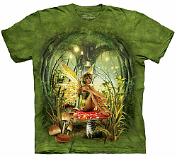 The Mountain Toadstool Fairy Short Sleeve Fantasy T-Shirt (Sm - 5X)