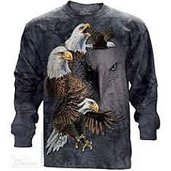 The Mountain Find 10 Bald Eagles Long Sleeve TShirt  (Sm, Med)