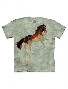 The Mountain Forest Horse Stallion Short Sleeve T-Shirt (Sm - 3x)