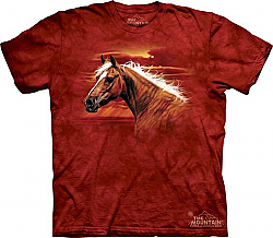 The Mountain Radiant Dream Palomino Short Sleeve Horse T-Shirt (Sm - 3X)