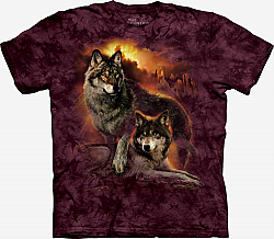 The Mountain Wolf Sunset T-Shirt (3X)