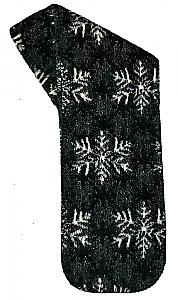 Winters Eve Snowflakes Fleece Scarf Made USA