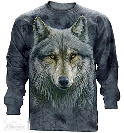 The Mountian Warrior Wolf Long Sleeve Shirt